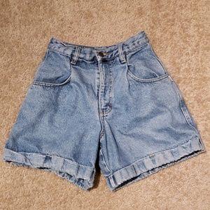 Vtg 80s Esprit Mom Jean Shorts sz 27